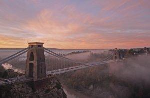Clifton Suspension Bridge at Sunrise