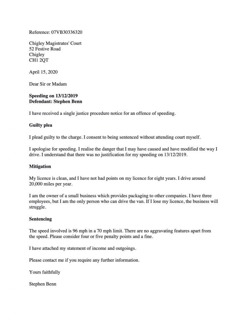 Sample Letter To Judge For Missing Court Date from thedrivingsolicitor.co.uk